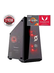 zoostorm-stormforce-onyx-amd-ryzen-3-processor-8gbnbspramnbsp1tbnbsphard-drive-gaming-pc-withnbspamd-vega-graphicsnbsp