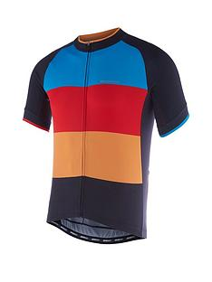 MADISON Peloton Men s Short Sleeve Cycle Jersey - Black Colour Blocks c33746f4f