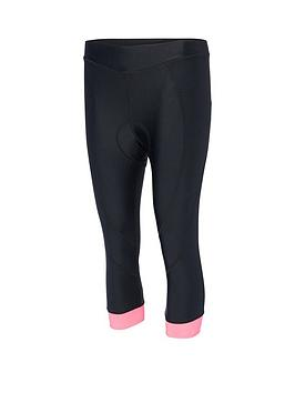 MADISON Madison Keirin Women'S 3/4 Cycle Shorts - Black/Pink Glo Picture