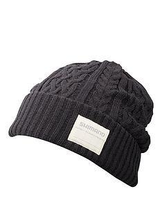 shimano-shimano-hat-knit-watch-black-regular-size