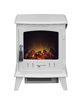 Adam Fires & Fireplaces   Aviemore Electric Stove Fire In White