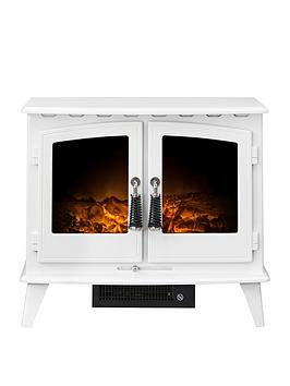 Adam Fires & Fireplaces   Woodhouse Electric Stove Fire In White