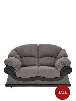 elm-faux-snakeskin-and-fabric-2-seater-sofa