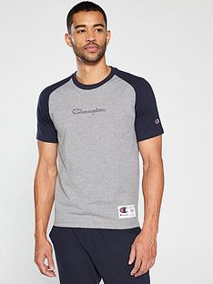 champion-colour-block-t-shirt-ndash-grey-marl