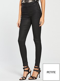v-by-very-short-charley-high-waisted-super-skinny-coated-jean