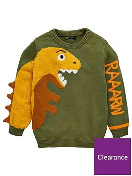 mini-v-by-very-boys-raaarw-3d-dinosaur-knitted-jumper-greenyellow