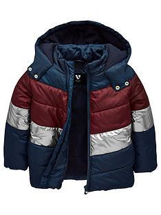 mini-v-by-very-contrast-chevron-stripe-coat