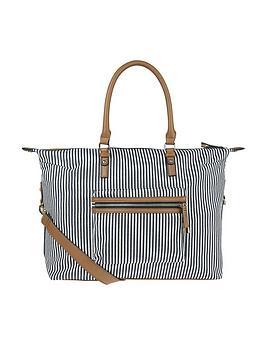 accessorize-marley-stripe-weekender-bag