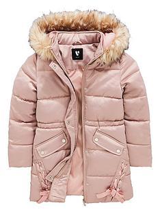 v-by-very-girls-long-line-pink-ribbon-coat