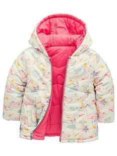 ee950fdadaf Mini V by Very Girls Unicorn Reversible Padded Coat