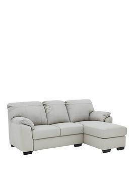 Very Merkle Leather/Faux Leather Right Hand 3 Seater Chaise Sofa Picture