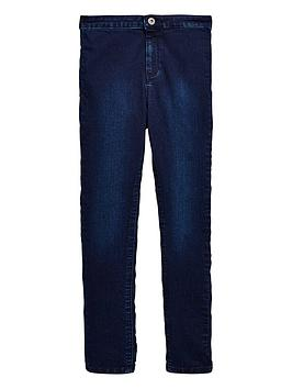 V by Very V By Very Girls High Waisted Skinny Jeans - Indigo Picture
