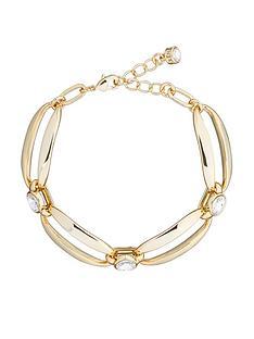 karen-millen-crystal-ellipse-bracelet-pale-gold