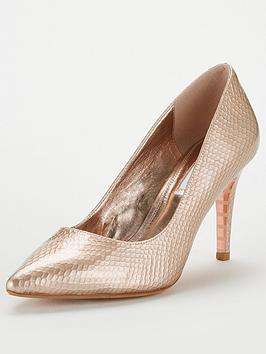 dune-london-anaconda-leather-mid-heel-court-shoe-rose-gold