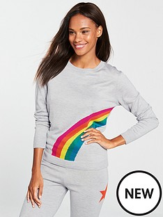 v-by-very-rainbow-pyjama-jumper-grey