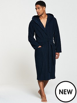 boss-logo-towelling-gown