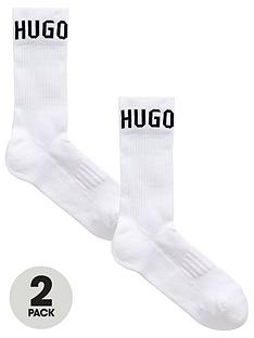 boss-bodywear-2-pack-logo-sport-socks-white