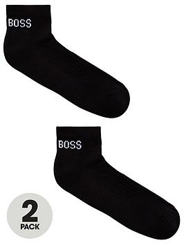 boss-bodywear-2-pack-logo-ankle-socks-black
