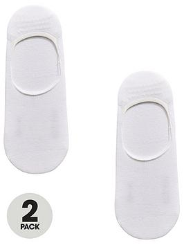 boss-2-pack-shoe-liner-sock-white
