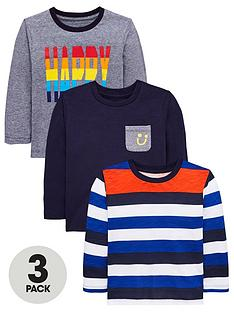 mini-v-by-very-boys-3-pack-long-sleeved-happy-t-shirts-multi