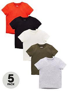 mini-v-by-very-5-pack-short-sleeve-marl-t-shirts