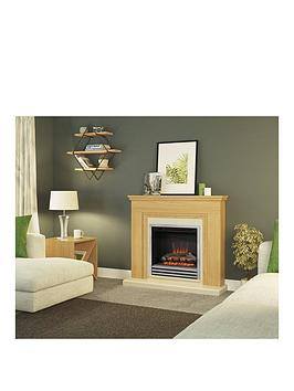 Be Modern Be Modern Stanton Electric Fire Suite In Natural Oak With 3-Bar  ... Picture