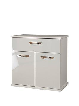 Swift Swift Neptune Ready Assembled High Gloss Compact Sideboard - Grey Picture