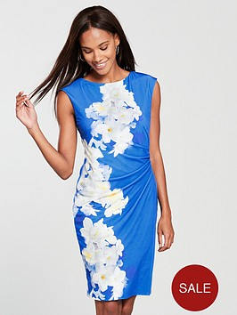 wallis-floral-ruched-side-wrap-dress-print