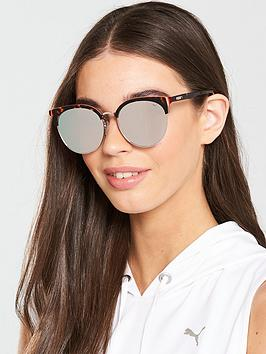 Puma Puma Rectangle Sunglasses - Havana/Silver Picture