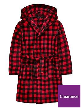 v-by-very-checked-fleece-robe