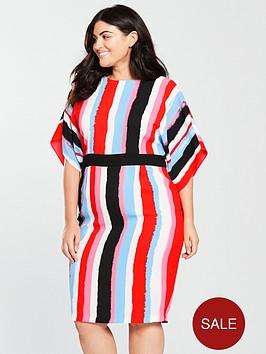 v-by-very-curve-stripe-pencil-dress-multi