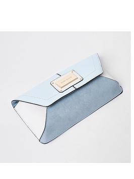 river-island-glitter-envelope-clutch-blue