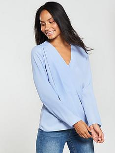 v-by-very-cross-over-blouse-lilac