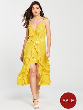 river-island-ruched-detail-jacquard-slip-dress-bright-yellow
