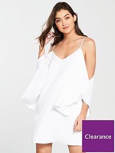 river-island-cold-shoulder-swing-dress-cream
