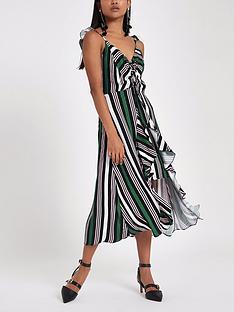 ri-petite-ruched-detail-stripe-slip-dress-multi