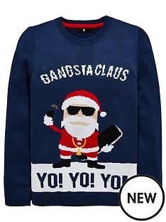 v-by-very-yo-yo-yo-gangsta-claus-chritsmas-knitted-jumper