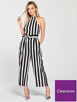ax-paris-petite-stripe-culotte-jumpsuit-blackwhite