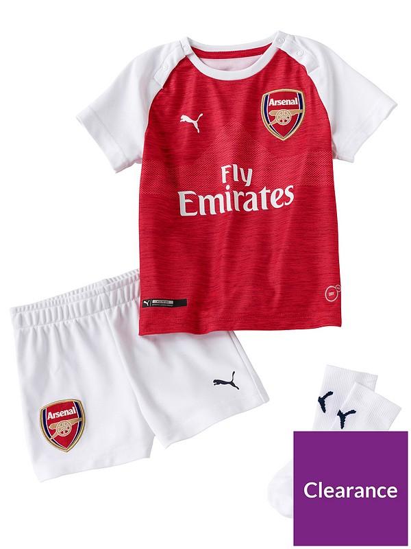 sprzedaż delikatne kolory informacje dla Puma Arsenal Kids Home 18/19 Replica Mini Kit