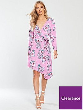 v-by-very-asymmetric-wrap-jersey-dress-pink-print