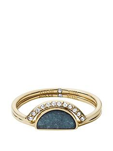 fossil-fossil-gold-tone-amp-teal-jade-stainless-steel-ladies-ring