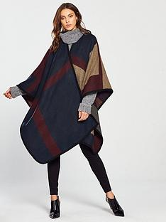v-by-very-nat-check-cape-with-tie-detail-navymulti