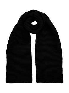 v-by-very-ebonee-plain-ribbed-scarf-black