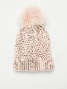 v-by-very-raina-lurex-thread-knitted-beanie-pink