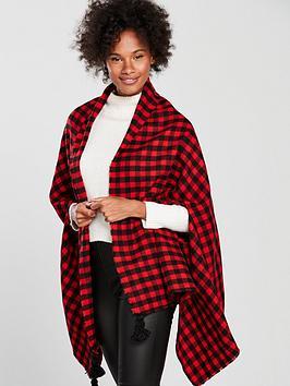 v-by-very-nancy-tassel-scarf-cape-blackred