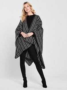 v-by-very-nina-textured-knit-cape-blackwhite