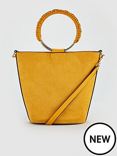 v-by-very-jenelle-bucket-bracelet-bag-ochre