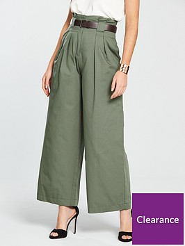river-island-river-island-wide-leg-belted-trousers--khaki
