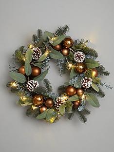 pre-lit-bronze-christmas-wreath