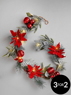 pre-lit-battery-operated-frosted-christmas-garland
